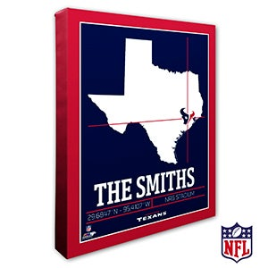 Houston Texans Personalized NFL Wall Art - 20217