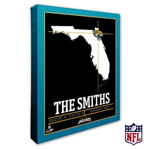 Jacksonville Jaguars Personalized NFL Wall Art - 20219
