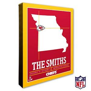 Kansas City Chiefs Personalized NFL Wall Art - 20220