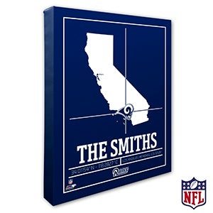 Los Angeles Rams Personalized NFL Wall Art - 20222