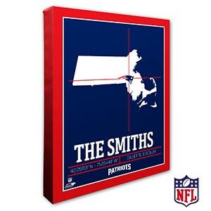 New England PatriotsPersonalized NFL Wall Art - 20225