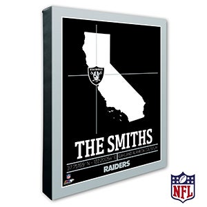 Oakland Raiders Personalized NFL Wall Art - 20229