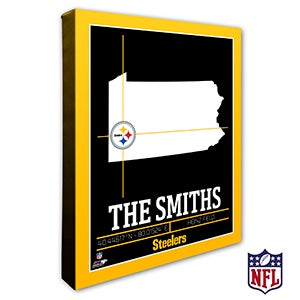 Pittsburgh Steelers Personalized NFL Wall Art - 20231
