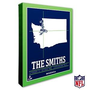 Seattle Seahawks Personalized NFL Wall Art - 20233