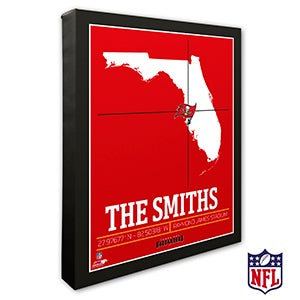 Tampa Bay Buccaneers Personalized NFL Wall Art - 20234