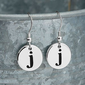 Personalized Dangle Initial Earrings - 20239D