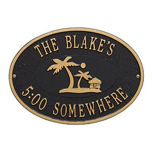 Island Time Personalized Outdoor Plaques - 20247D