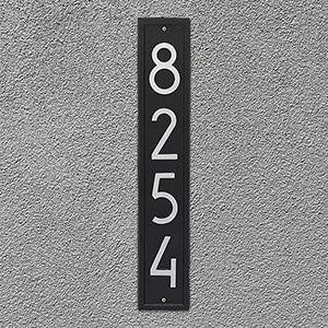 Personalized Address Plaque - Modern Vertical - 20262D