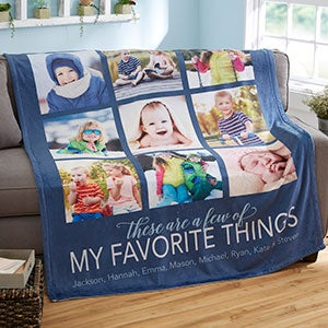 my favorite things personalized 50x60 fleece photo blanket photo gifts