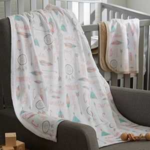 Boho Baby Personalized Baby Blankets - 20269