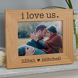 Engraved Wood Picture Frames - I Love Us - 20286