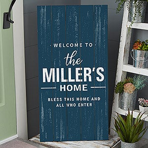 Personalized Wood Pallet Sign - Farmhouse Family - 20418