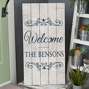 Personalized Welcome Wood Pallet Signs - 20419