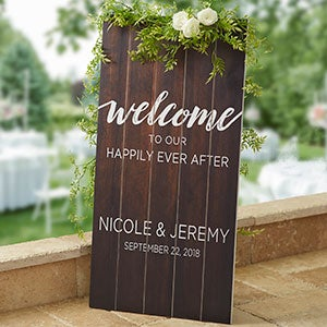 Personalized Wood Pallet Signs - Wedding Welcome - 20420