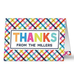 Personalized Thank You Greeting Cards - Thanks - 20425