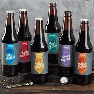 first father s day personalized beer bottle labels father s day gifts