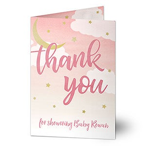 Personalized Baby Thank You Card - Over The Moon - 20427
