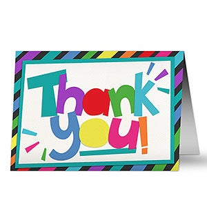 Bright Letters Personalized Thank You Card - 20430