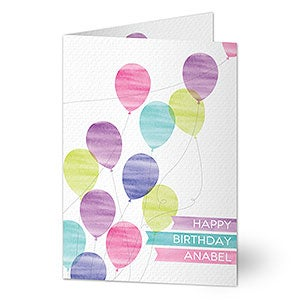 Personalized Birthday Card - Birthday Balloons - 20431