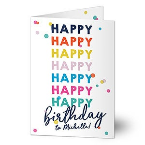 Personalized Birthday Card - Happy Happy Birthday - 20433