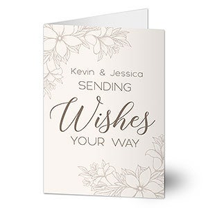 Personalized Greeting Card - Sweet Wedding Wishes - 20437