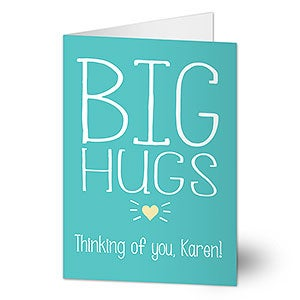 big hugs personalized greeting card - Big Greeting Cards