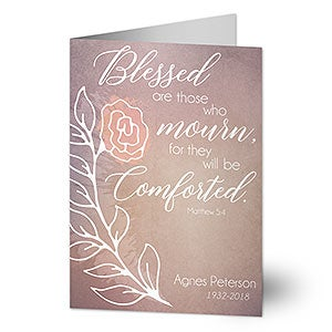 Personalized Sympathy Card - Blessed Are Those - 20445