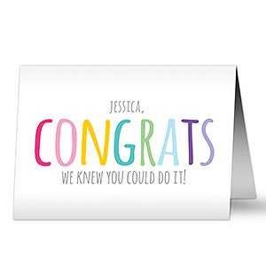 Personalized Congratulations Cards - Colorful Congrats - 20450