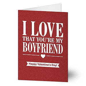 Personalized card i love that youre my guy buy personalized greeting cards for him for valentines day anniversary or any romantic occasion add your own text free personalization fast shipping m4hsunfo