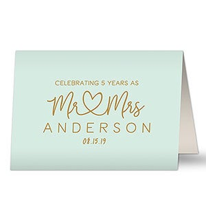 Personalized Anniverary Card - Simple Text - 20456