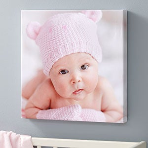 Square Canvas Photo Prints - Baby Photo Memories - 20472