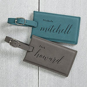 Stylish Name Personalized Leather Bag Tags - 20484