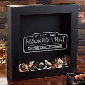 Personalized Cigar Label Shadow Box - Been There Smoked That - 20491