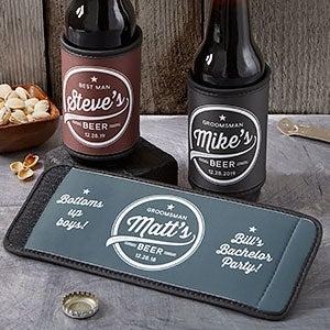 Groomsmen Brewing Co. Personalized Can & Bottle Wrap - 20494
