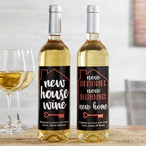 Personalized New Home Wine Bottle Labels - 20498