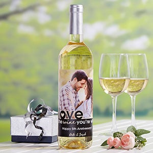 Love The Wine You're With Photo Wine Bottle Label - 20499