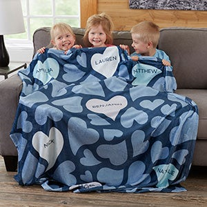 Personalized Blankets - Loving Hearts - 20545