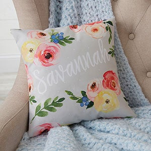 Personalized Floral Baby Throw Pillows - 20566