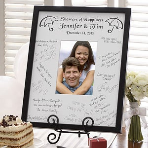 Personalized Wedding Signature Mat Frame - Showers of Happiness - 2057