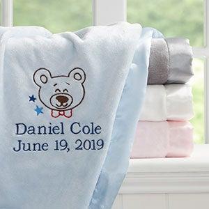 Teddy Bear Personalized Baby Blanket - 20598