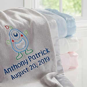 Monster Personalized Baby Blanket - 20602