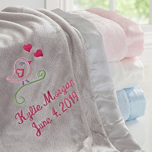 Sweet Bird Personalized Baby Blanket - 20604