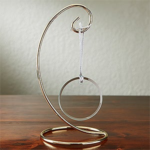 Curved Brass Christmas Ornament Display Stand - 2061
