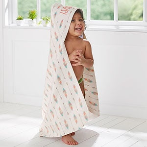 Boho Baby Personalized Hooded Towel - 20615