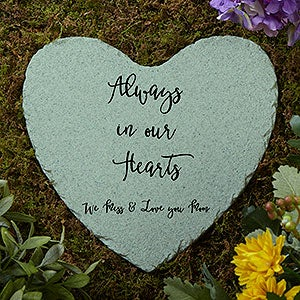buy personalized garden stones to remember a lost loved one choose colors fonts add any text to our heart shaped memorial garden stones - Personalized Garden Stones