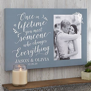 Wedding Photo Canvas Prints - Once In A Lifetime - 20624