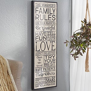 Personalized Family Rules Sign - 20626