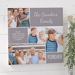family love 16x16 custom photo collage canvas print photo gifts