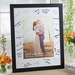 Personalized Wedding Guest Book Signature Frame - 20646