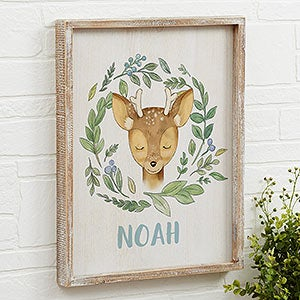 Woodland Baby Boy Personalized Rustic Wall Art - 20688